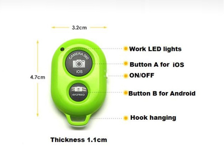 Bluetooth Remote Shutter for Android/IOS [Bluetooth-Remote