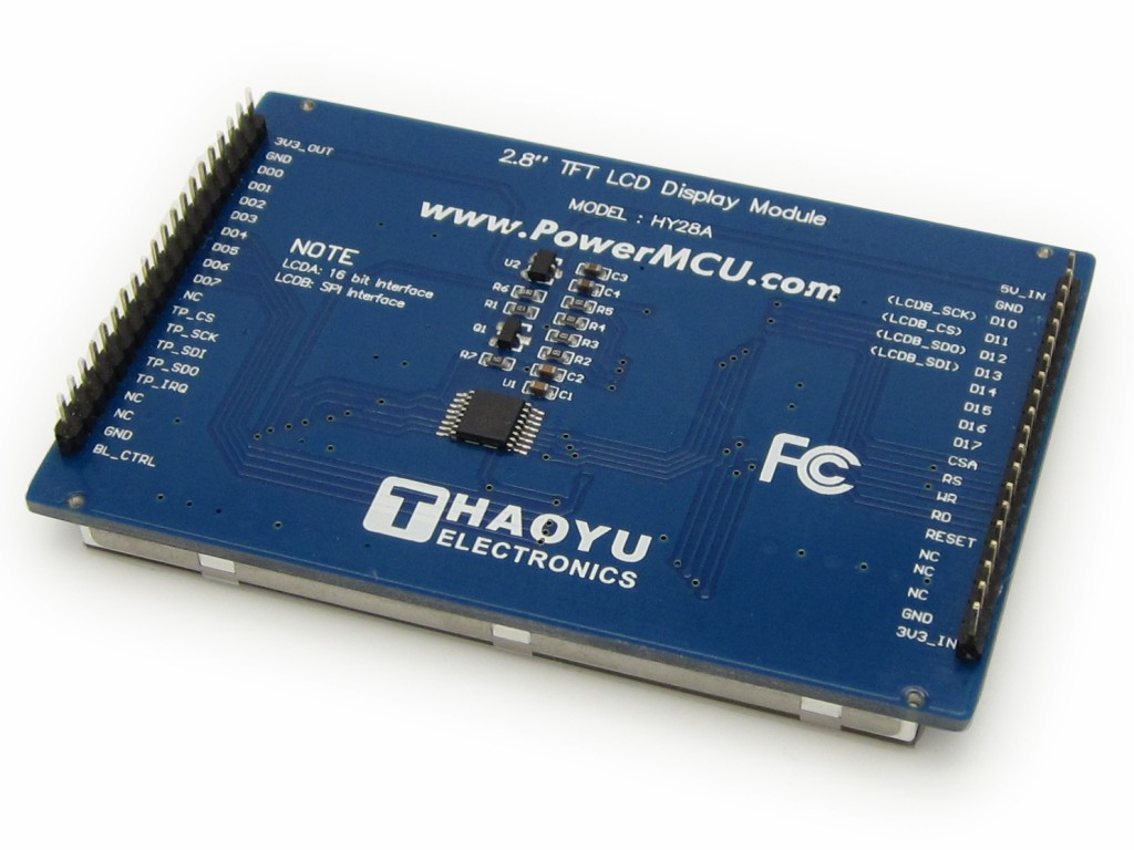 28 Touch Screen Tft Lcd With Spi Interface Hy28a Lcdb Us 1000 Display Microcontroller Schematic