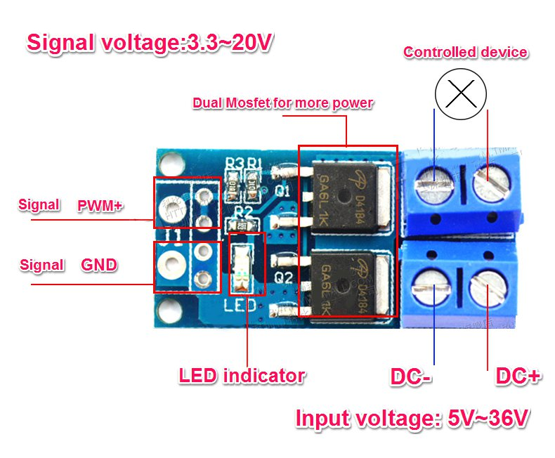 High Power Mosfet Trigger Switch Drive Module Mosfet