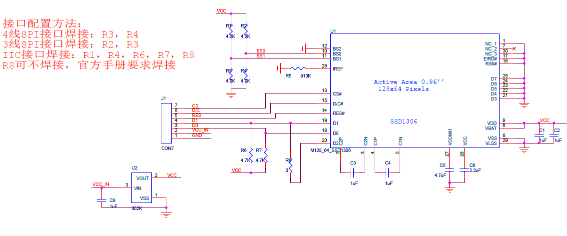 Ssd1306 096 128 C3 9764 Oled Display  E2 80 93 I2cspi Interface P 144 on contrast lcd schematic