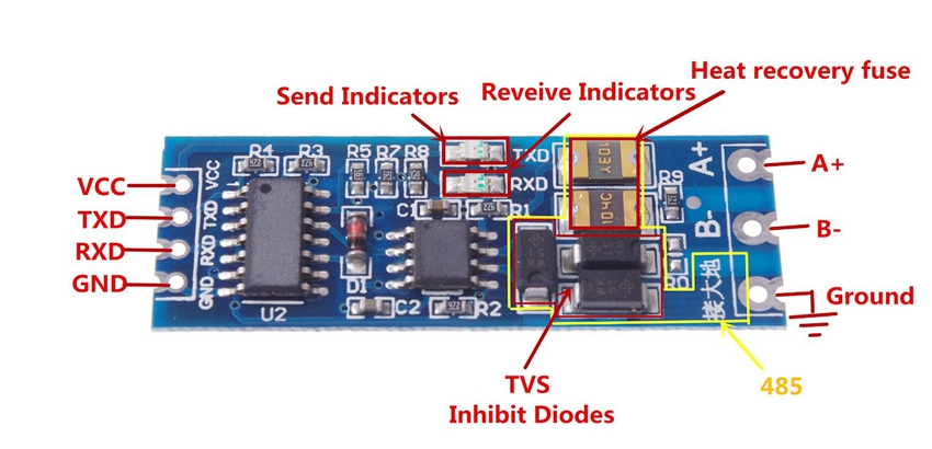 TTL RS485 Module 4 need help with rs485 module RS 485 Pinout Diagram at bayanpartner.co