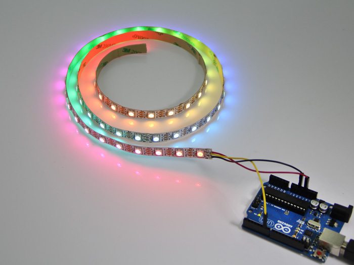30led Strip_01 ws2812 digital rgb led flexi strip 60 led 1 meter [ws2812 60led WS2812B Controller at edmiracle.co